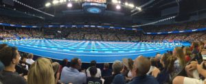 Swimming Olympic Trials. Just before finals.
